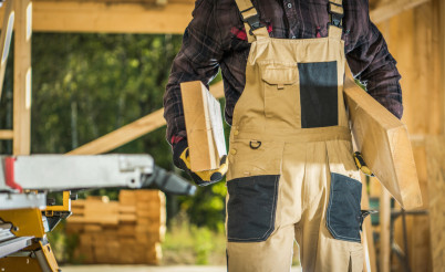 Builder Contractor with Wood