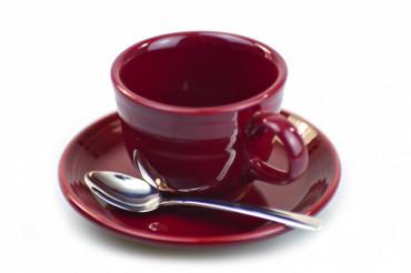 Burgundy Coffee Cup