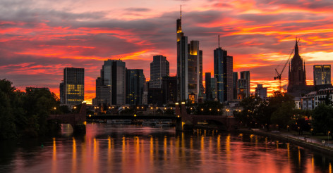 Burning Sky Over Frankfurt