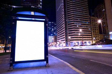 Bus Stop Ad Display