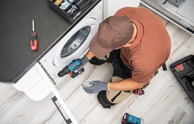 Cabinetmaker Finishing Washer Cabinet