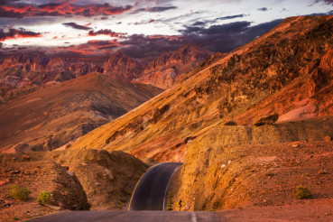 California Desert Road Sunset