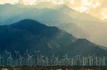 California Desert Wind Turbines