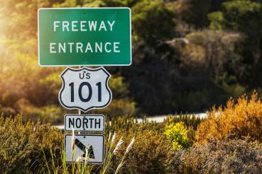 California Highway 101 Entrance Sign