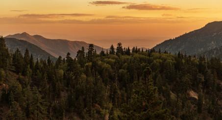 California San Bernardino National Forest Mountains Sunset