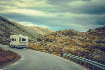 Camper on the Scenic Route