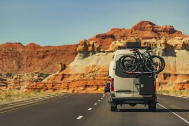 Camper Van Motorhome on Scenic Route