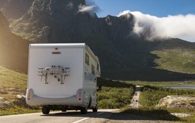 Camper Van RV on the Lofoten Road Trip