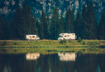 Camper Vans and the Lake