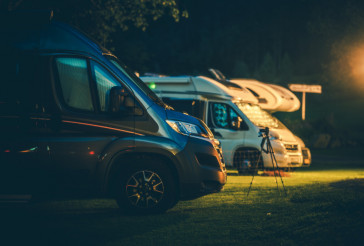 Camper Vans in the RV Park