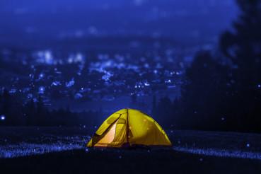 Campsite Near City