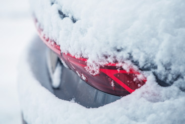 Car Covered by Fresh Winter Snow
