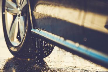 Car Washing Details Closeup