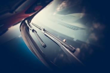 Car Wipers Closeup Photo