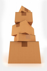 Cardboard Boxes Pile