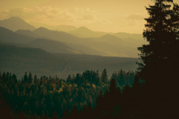 Carpathian Mountains Sunset