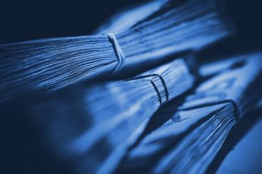 Cash Money Piles Blue Concept