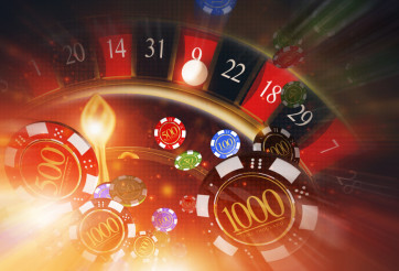 Casino Roulette Blowing Chips