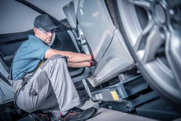 Caucasian Automotive Technician