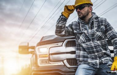 Caucasian Contractor Worker