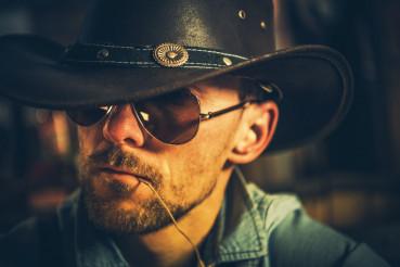 Caucasian Cowboy Portrait