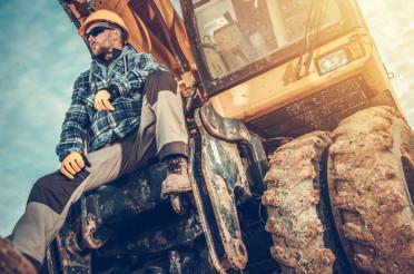 Caucasian Excavator Operator