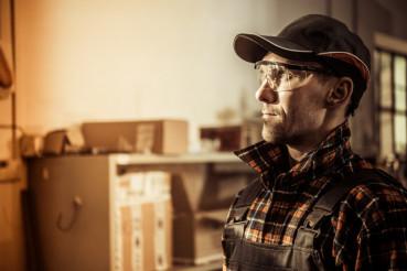 Caucasian Factory Worker