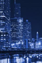 Chicago Night in Blue