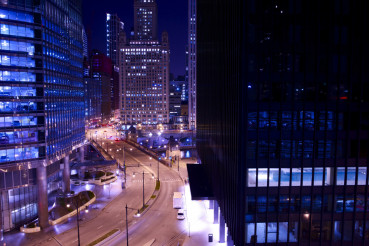 Chicago Towers at Night
