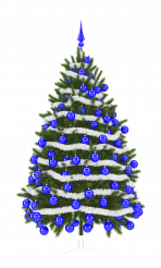 Christmas Tree PNG Transparent Background 3D Illustration