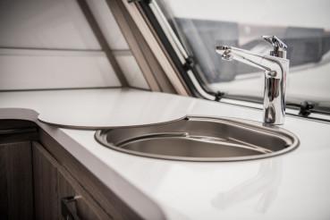 Circular RV Camper Sink