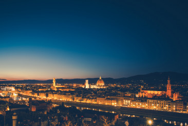 City of Florence During Dusk