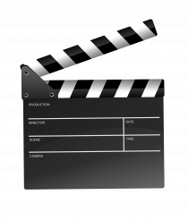 Clapperboard Illustration PNG Isolated