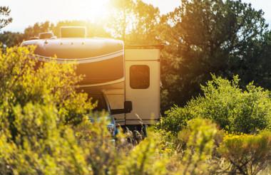 Class C RV Motorhome Wilderness Camping