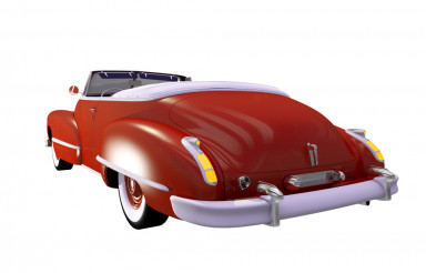 Classic Car Cabriolet Isolated