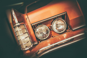 Classic Car Headlamp Closeup