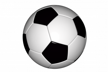 Classic Euro Football Ball 3D PNG Graphic