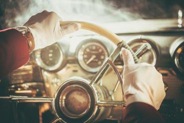Classic Retro Car Driver