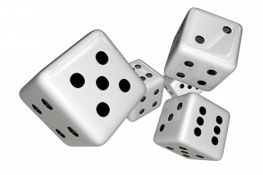 Classic White Casino Dices 3D PNG Illustration