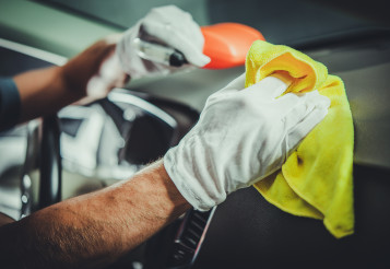 Cleaning and Sanitizing Car Interior and Dashboard