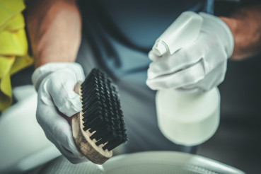 Cleaning Brush and Detergent
