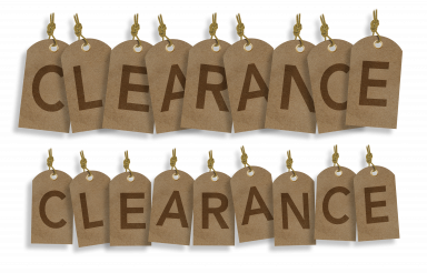 Clearance Sale PNG Paper Tags Isolated Graphic