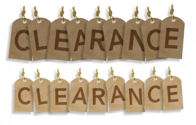 Clearance Vintage Labels
