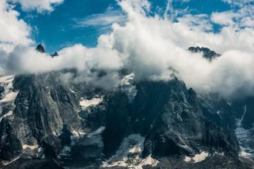 Cloudy Mont Blanc Massif