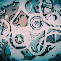Clock Cogwheels Background