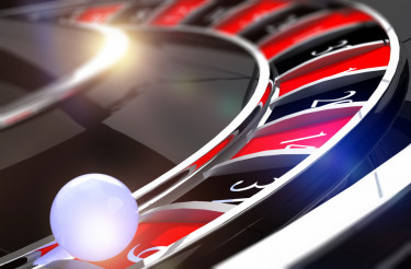 Closeup on Roulette Ball