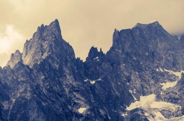 Cloudy Alp Mountains
