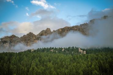 Cloudy Dolomites Mountains