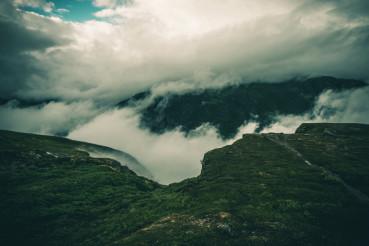 Cloudy Norway Landscape
