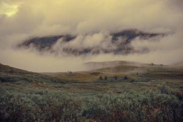 Cloudy Norwegian Landscape